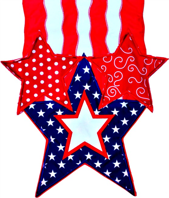 Stars and stripes applique mini garden flag by custom for Custom decor inc