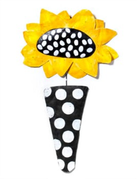 Sunflower in Pot Door Hanger