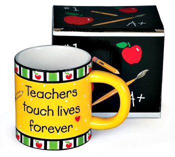 Teachers Touch Lives Forever Mug by Burton & Burton **SOLD OUT**