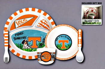 Tennessee Volunteers Tailgatin' for Tots Dinnerware Set **NEW**
