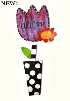 Tulip in Pot Door Hanger **COMING SOON**