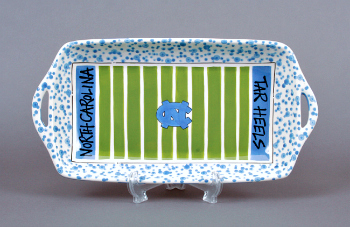 UNC Ceramic Stadium Serving Tray