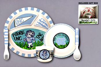 UNC Tar Heels Tailgatin' for Tots Dinnerware Set **NEW**