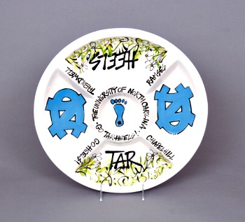 UNC Ceramic Veggie Platter