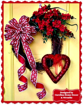 Valentine Wreath #6 - Hearts on Fire