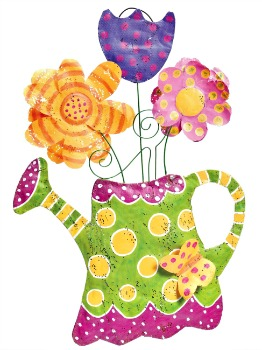 Watering Can with Flowers Door Hanger**NOW AVAILABLE*
