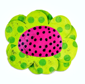 Watermelon Flower Door Hanger