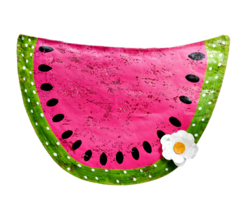 Watermelon with Daisy Door Hanger