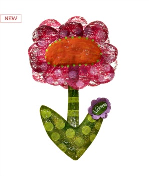 Welcome Flower Door Hanger