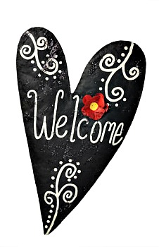 Welcome Heart Door Hanger