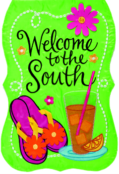 Welcome to the South Applique Mini Garden Flag **NEW**