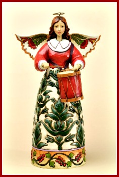 Keep a Merry Beat Williamsburg Damask Angel Figurine by Jim Shore