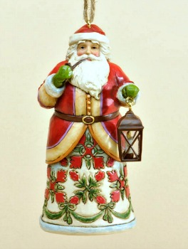 Damask Santa Ornament