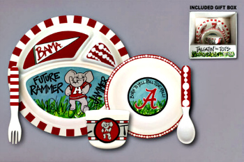 Alabama Crimson Tide Tailgatin' for Tots Dinnerware Set **NEW**