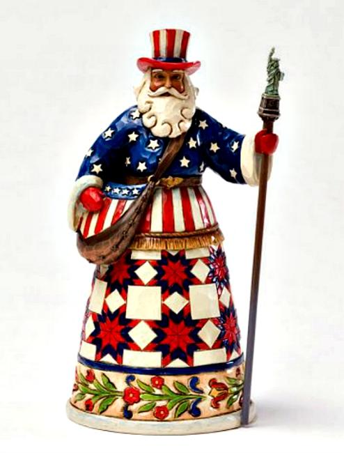 American Santa Figurine by Jim Shore Heartwood Creek**SOLD OUT**