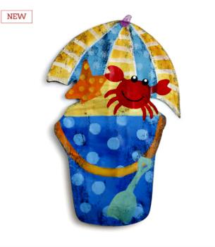 Beach Bucket Door Hanger **SOLD OUT**