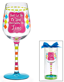Below the Line Wine Glass **NEW**