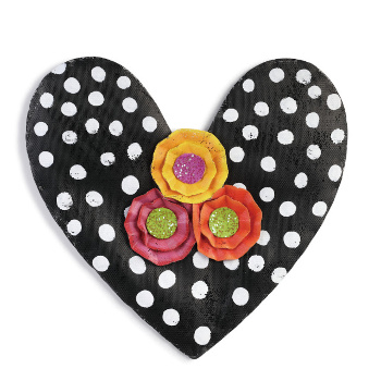 Black and White Polka Dot Heart **NEW - NOW AVAILABLE**