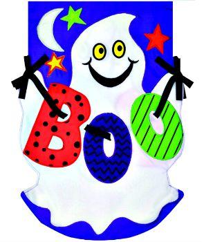 Boo Ghost Applique Mini Garden Flag **NEW**