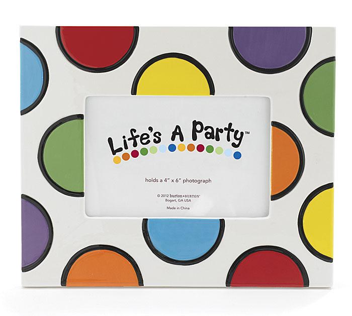 Celebrate MultiColor Polka Dot Photo Frame