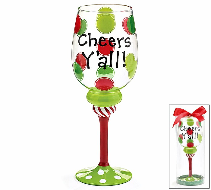 Cheers Y'All Wine Glass **SOLD OUT**