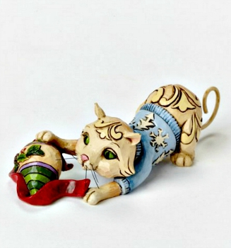 Mini Christmas Cat with Ornament by Jim Shore Heartwood Creek *NEW*SOLD OUT*
