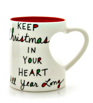 Christmas Heart Shaped Mug **NEW**
