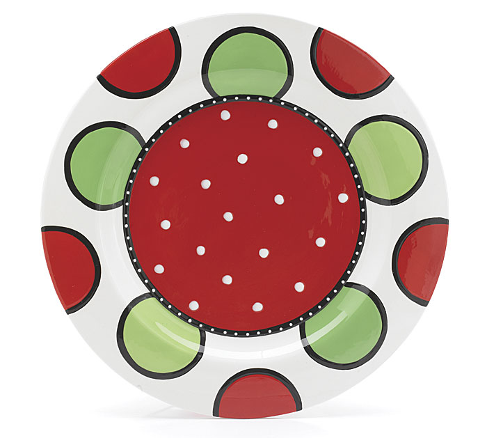 14 1/2 Diameter Ceramic Christmas Platter