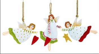 Tin Angel Christmas Ornaments