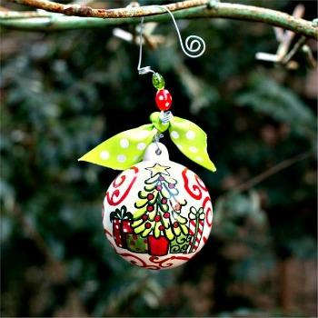 Christmas Tree & Presents Ball Ornament
