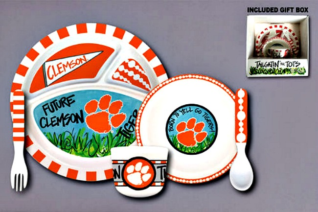 Clemson Tigers Tailgatin' for Tots Dinnerware Set **NEW**