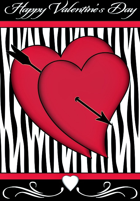 Cupid's Arrow Valentine Mini Flag ** SOLD OUT**