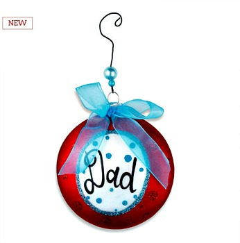 Dad Message Disk Ornament