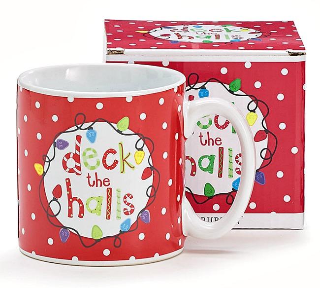 Deck the Halls Christmas Mug by Burton & Burton