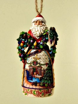 Deck the Halls Santa Hanging Ornament **SOLD OUT**
