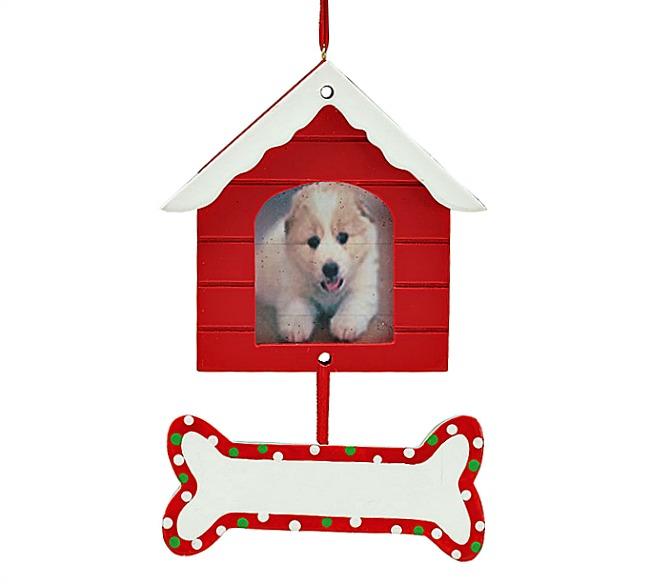 Doghouse Frame & Bone Ornament **ITEM UNAVAILABLE**