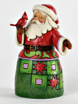 Festive Friends - Pint-Sized Santa with Cardinal Figurine **SOLD OUT**