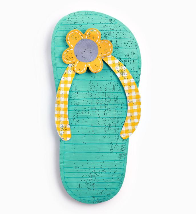 Flip Flop with Flower Door Hanger **NEW - NOW AVAILABLE**
