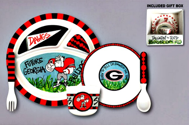 Georgia Bulldogs Tailgatin' for Tots Dinnerware Set **SOLD OUT**