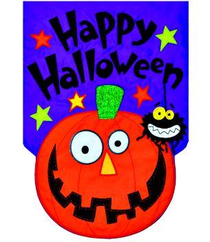 Happy Halloween Applique Mini Garden Flag **NEW**