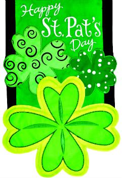 Happy St. Pat's Day Applique Mini Garden Flag **NEW**