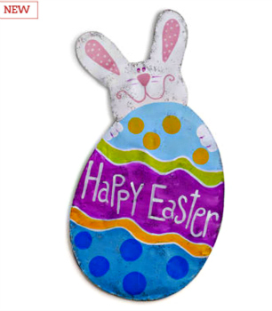 Happy Easter Bunny and Egg Door Hanger **SOLD OUT**