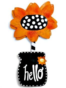 Hello Sunflower Door Hanger **NEW - NOW AVAILABLE**