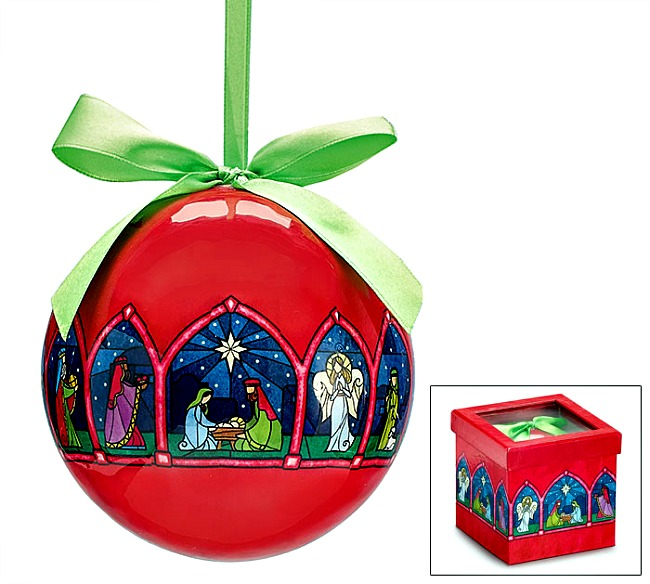 His Holy Night Christmas Ornament