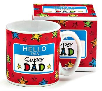 Hello I\'m a Super Dad Mug by Burton & Burton