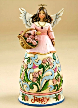 January Birthday Angel by Jim Shore Heartwood Creek **SOLD OUT**