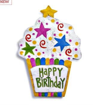 LIT Happy Birthday Cupcake Door Hanger SOLD OUT