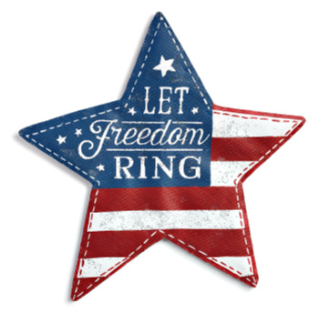 Let Freedom Ring Star Door Hanger **NEW - NOW AVAILABLE**