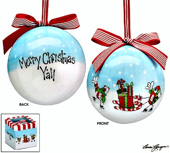 Merry Christmas Y'all Celebrate Ornament