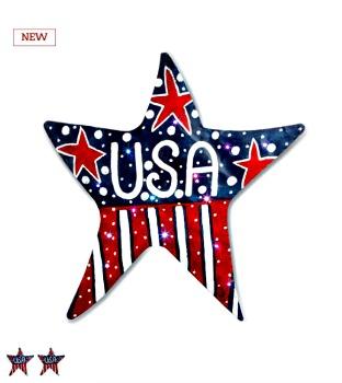 LIT USA Star Door Hanger